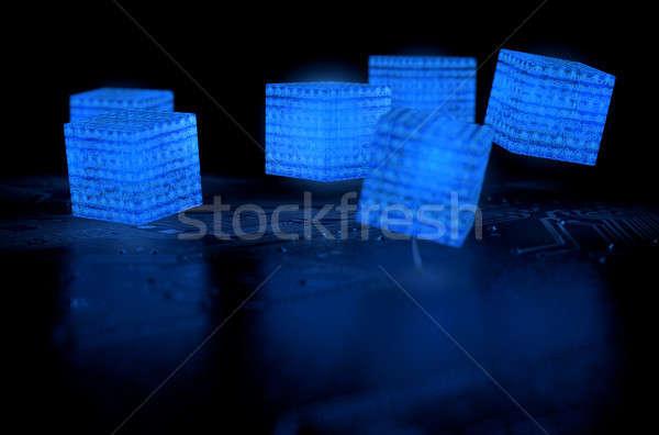 Blockchain Data Network Stock photo © albund
