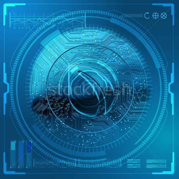 Cryptocurrency Peercoin Futuristic Stock photo © albund