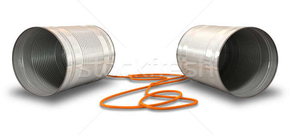 Tin Telephones Stock photo © albund
