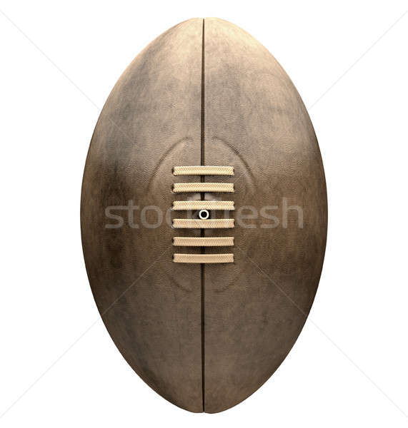 Retro Rugby Ball Front View Stock photo © albund