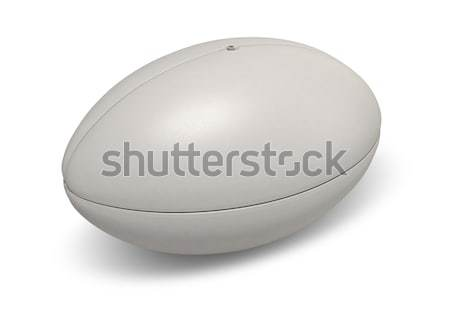 Rugby Ball On White Stock photo © albund