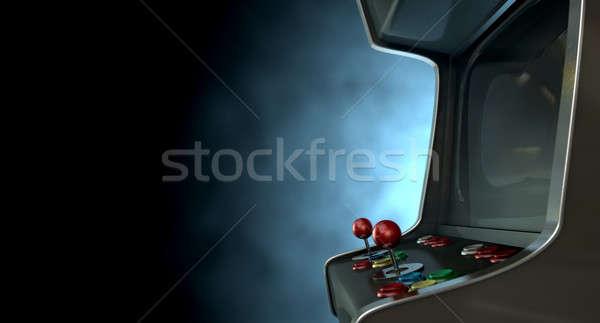 Arcade Machine Dramatic View Stock photo © albund