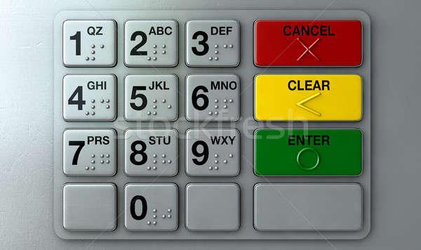 ATM Keypad Closeup Stock photo © albund