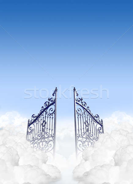 Heavens Gates In The Clouds Stock photo © albund