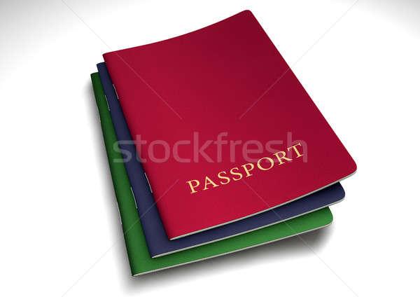 общий паспорта изолированный белый студию Сток-фото © albund