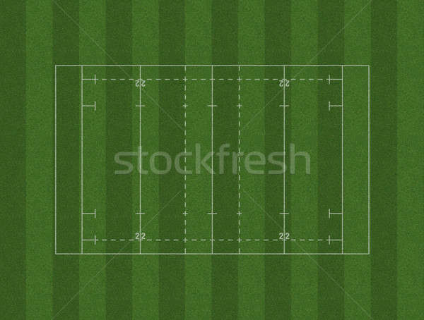 Rugby Pitch Layout Stock photo © albund