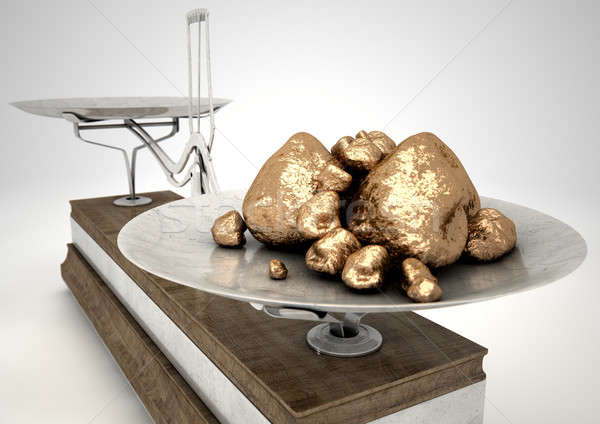 Scale And Gold Nuggets Stock photo © albund