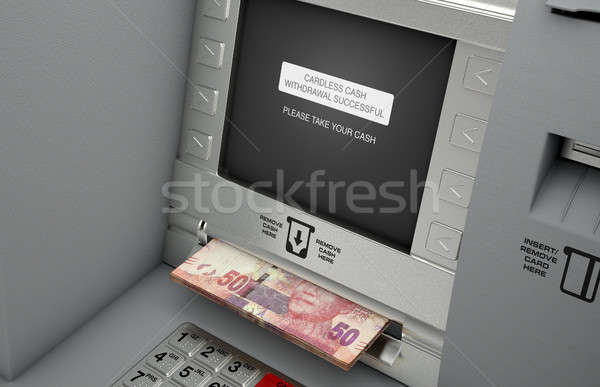 Atm Cardless Cash Withdrawal Stock photo © albund
