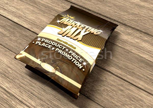 Marketing keverék négy táska termék felfelé Stock fotó © albund