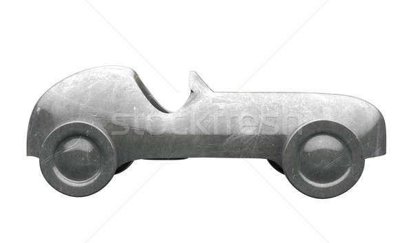 Jouet voiture vue de côté isolé fer Photo stock © albund