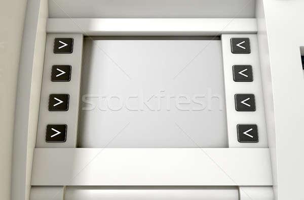 Atm ekranu widoku ceny Zdjęcia stock © albund