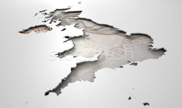 Land kaart groot-brittannië vorm groot-brittannië kleuren Stockfoto © albund