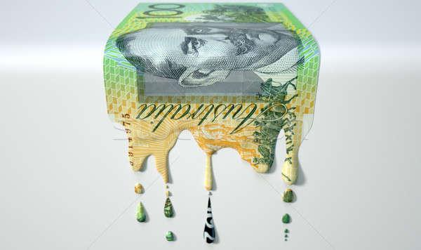 Australian Dollar Melting Dripping Banknote Stock photo © albund