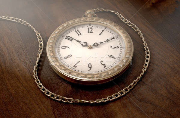 Pocket Watch On Chain Stock photo © albund