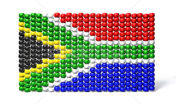 South African Zulu Bead Flag Stock photo © albund