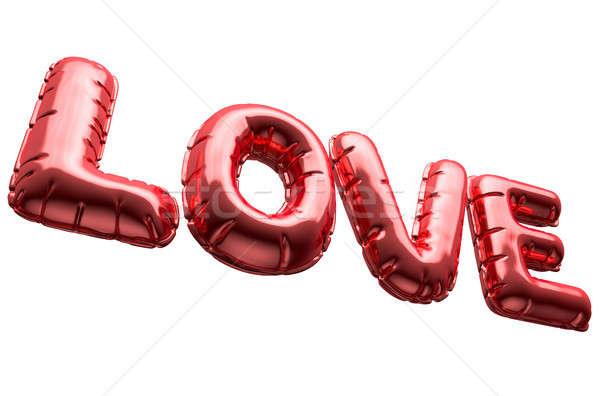 Love Inflatable Balloons Stock photo © albund