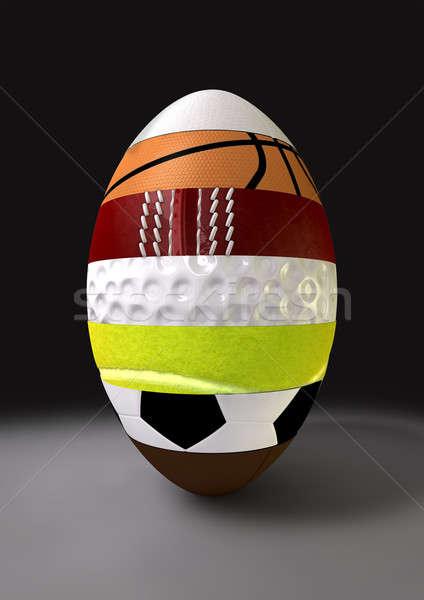Segmented Sports Ball Stock photo © albund