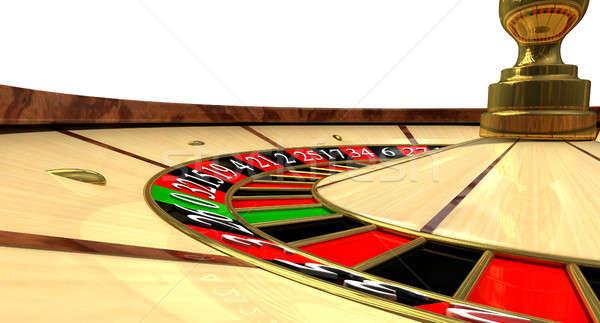 Rueda de la ruleta regular madera rojo negro Foto stock © albund