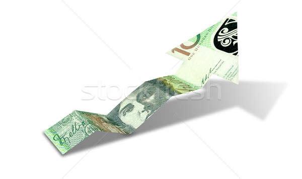 Australian Dollar Bank Note Upward Trend Arrow Stock photo © albund
