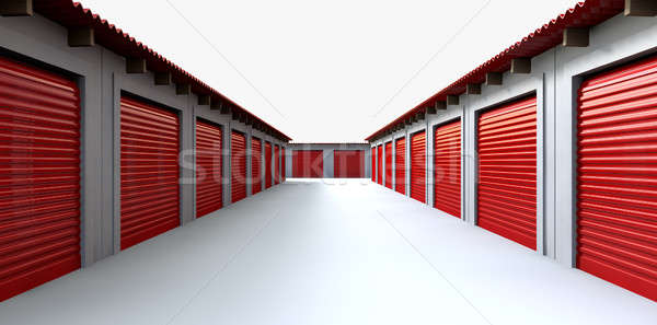Storage Lockers Perspective Stock photo © albund