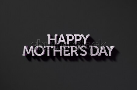 Happy Mothers Day Text On Black Stock photo © albund