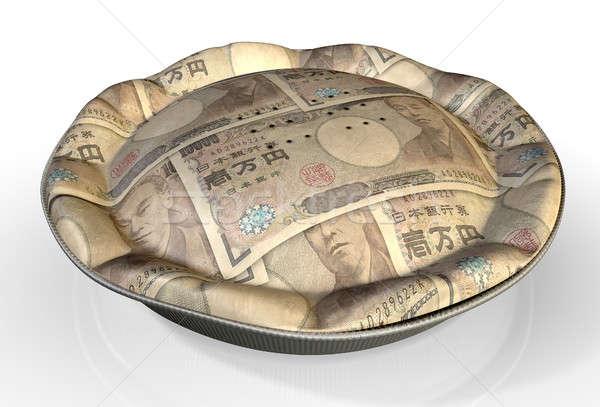Dinero pie japonés yen perspectiva vista Foto stock © albund