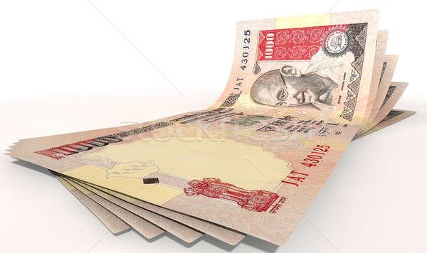 Rupee Bank Notes Spread Stock photo © albund