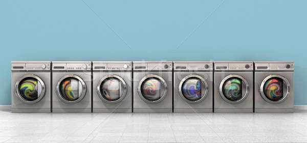 Washing Machine Full Single Stock photo © albund