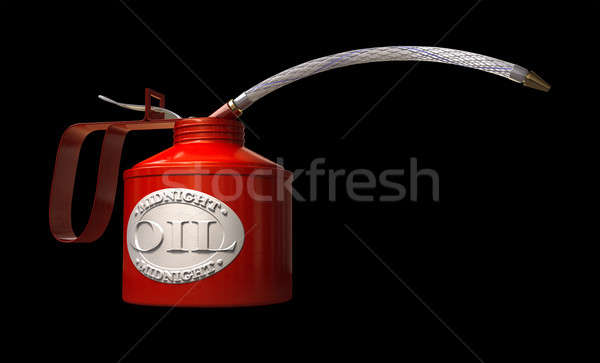 Brandwond middernacht olie regelmatig kan badge Stockfoto © albund