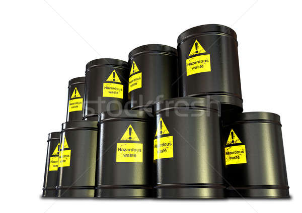 Hazardous Waste Barrel Stack Stock photo © albund