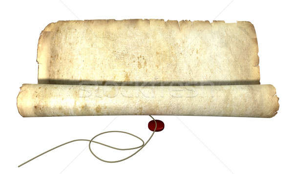 Old Scroll Unrolling With String Stock photo © albund