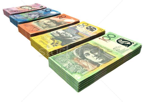 Foto stock: Australiano · dólar · notas · coleção · uniforme