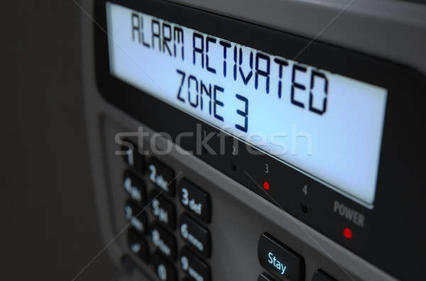 Alarm Panel Activated Stock photo © albund
