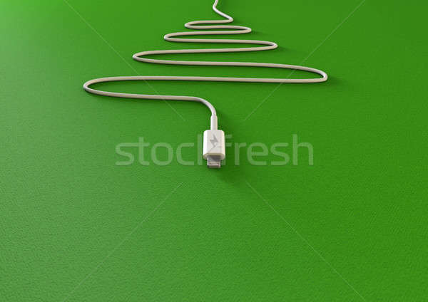Christmas Tree Phone Charger Stock photo © albund