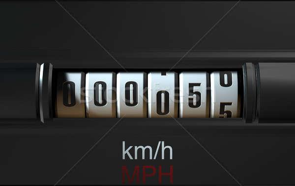 автомобилей одометр новых 3d визуализации Сток-фото © albund
