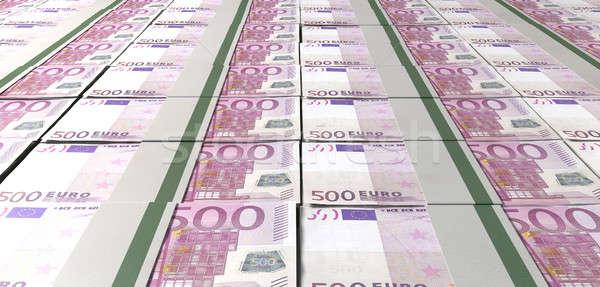 Euro Bill Bundles Laid Out Stock photo © albund