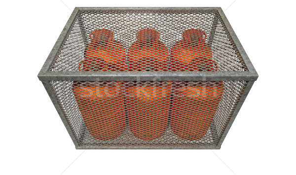 Steel Cage With Gas Bottles  Stock photo © albund
