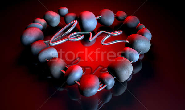 Heart Love Stones Stock photo © albund