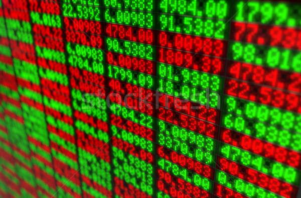 株式市場 デジタル ボード クローズアップ セクション インジケータ ストックフォト © albund