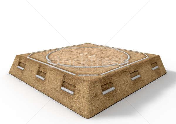 Sumo worstelen ring 3d render lege traditioneel Stockfoto © albund