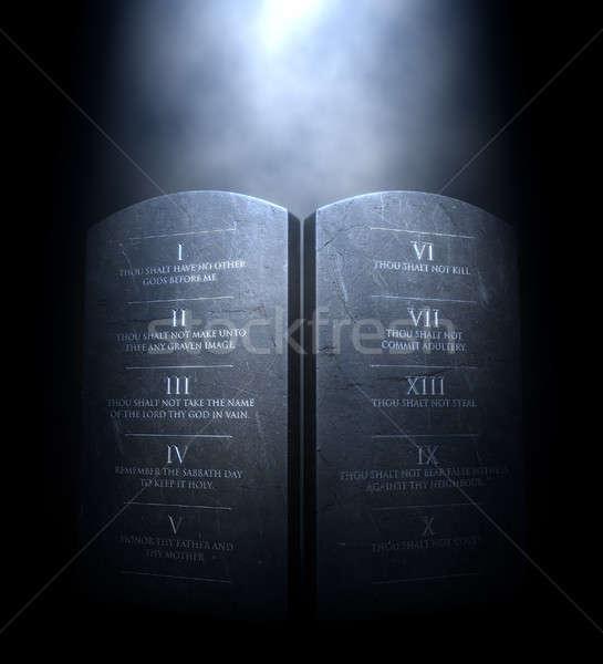 Ten Commandments Stock photo © albund