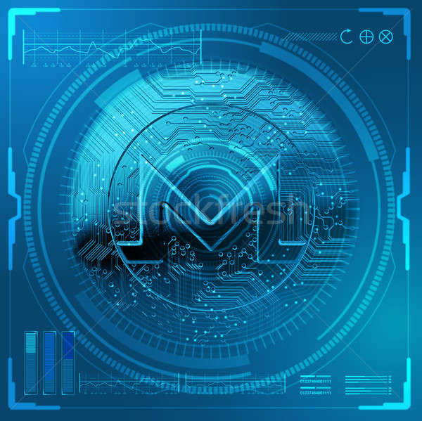 Cryptocurrency Monero Futuristic Stock photo © albund