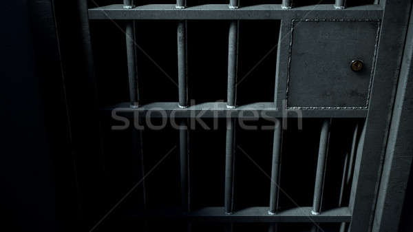 Jail Cell Door And Welded Iron Bars Stock photo © albund