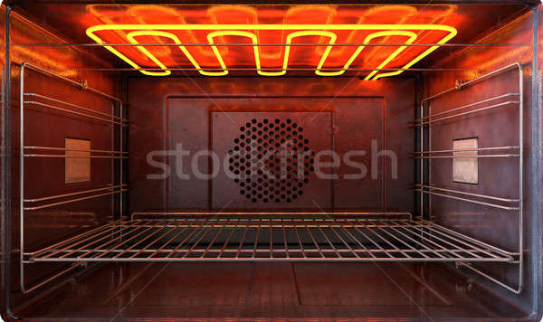 Inside The Oven Front Stock photo © albund