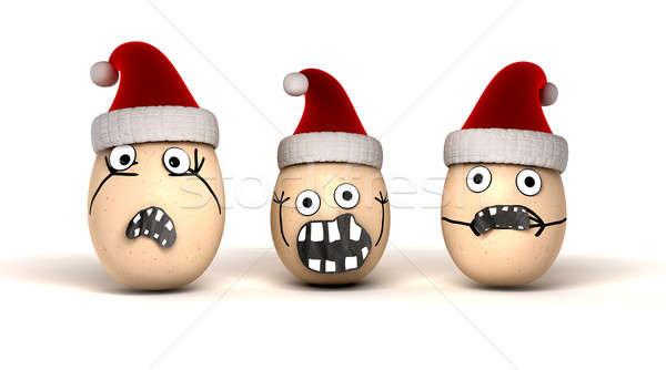 Christmas jaj w górę jaj Zdjęcia stock © albund