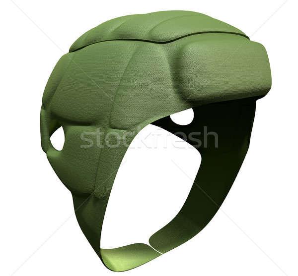 Groene cap perspectief regelmatig rugby geïsoleerd Stockfoto © albund