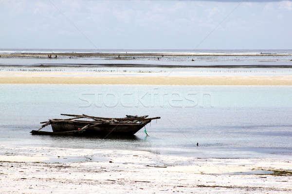 Faible marée traditionnel voile bateaux courir Photo stock © albund