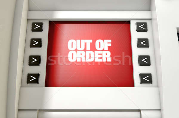 ATM Screen Out Of Order Stock photo © albund