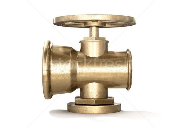 Brass Plumbing Shut Off Valve Stock photo © albund