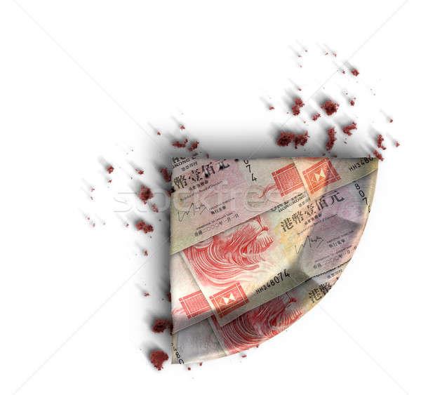 Slice Of Hong Kong Dollar Money Pie Stock photo © albund